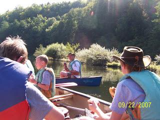 troop canoe trip lahn river, september 2007