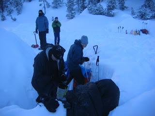 Igloo campout Kandersteg Switzerland 01/2009
